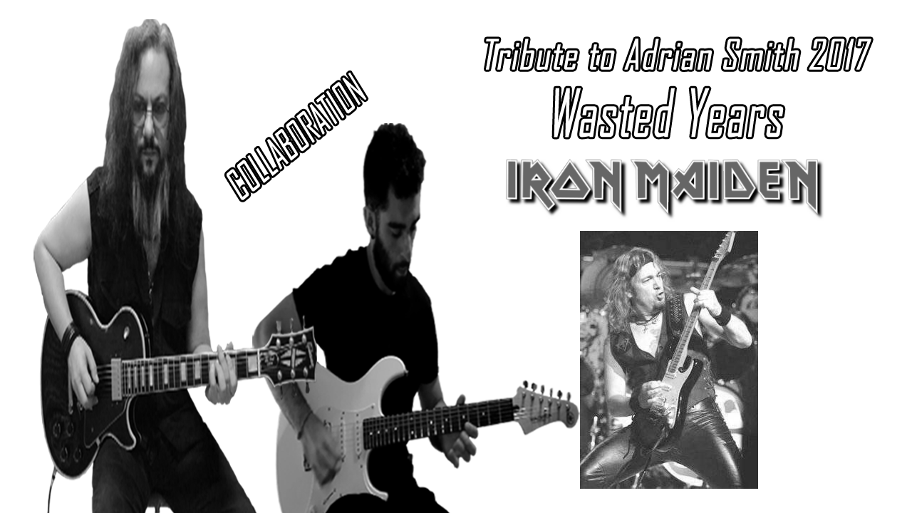 Iron Maiden. Wasted Years. Somewhere in time. Metal Guitar Cover.
