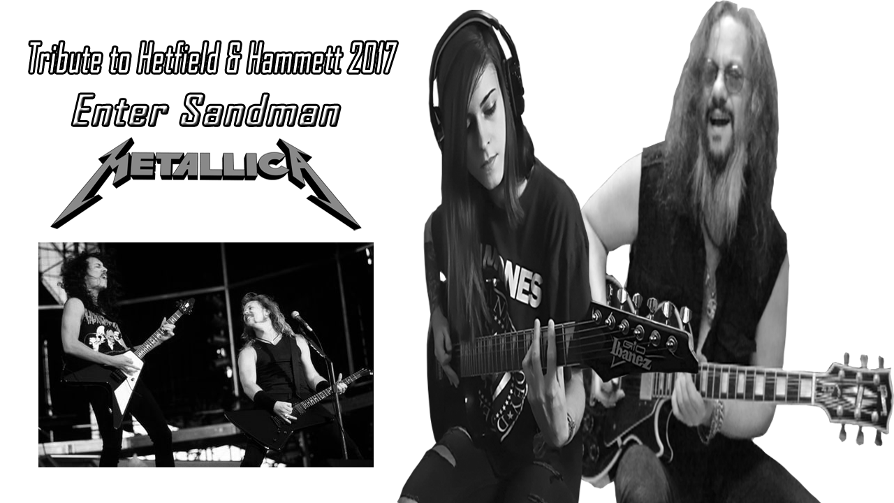 Metallica Enter Sandman Metal Guitar Cover A Tribute to Mr. Kirk Hammett