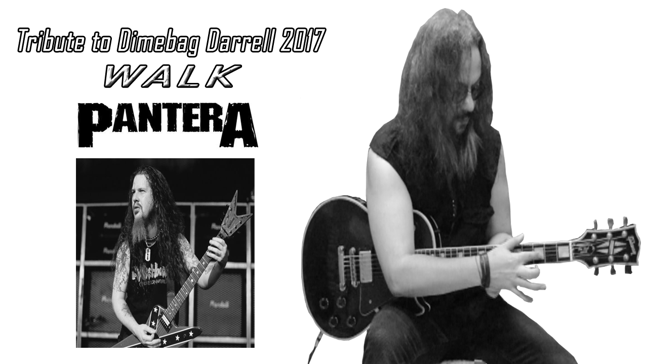 Pantera Walk Dimebag Darrell Metal Guitar Cover