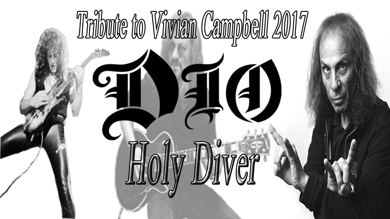 "Ronnie J. DIO Holy Diver Guitar SOLO Cover Vivian Campbell. Ronnie James DIO with Vivian Campbell, published his first solo album ""Holy Diver"" at the beginning of the 80s, after leaving Black Sabbath and having published some work with Raimbow."